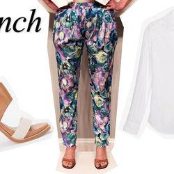"<b>Dolce Vita</b> Gwendolyn Heel at <b>Crush Boutique</b>, <a href=""http://www.shopcrushboutique.com/accessories/shoes/gwendolyn-retro-heel-by-dolce-vita.html"">$158</a>; Floral Trouser at <b>Vira</b>, <a href=""http://www.shopvira.com/collections/new-arriv"