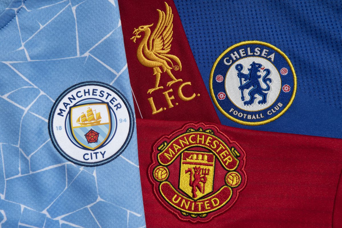 The Club Badges of the Four English Teams in the 2021/22 Champions League