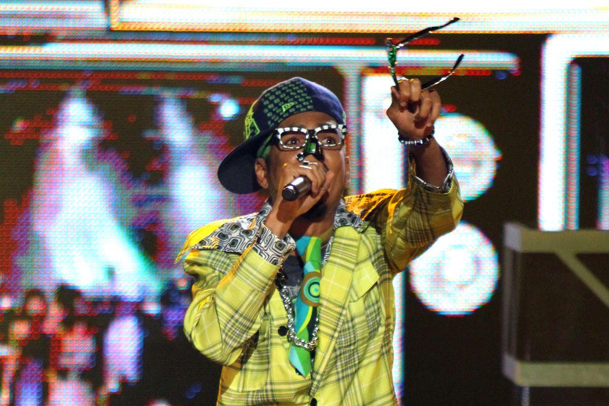 Shock G of Digital Underground performs during the BET Hip Hop Awards '10 in 2010 in Atlanta, Georgia.