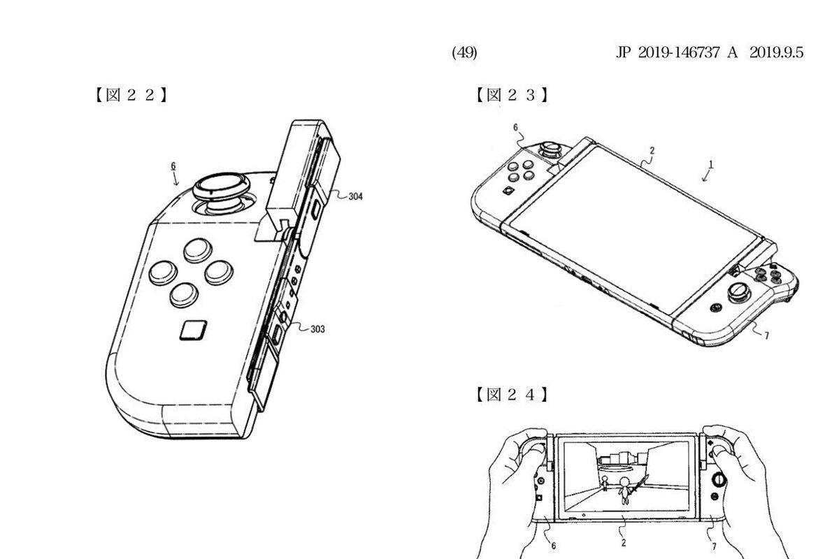 Nintendo files weird patent for hinged Joy-Cons - Polygon