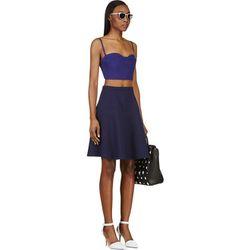 """<b>Carven</b> skirt, <a href=""""https://www.ssense.com/women/product/carven/ultramarine-wool-crepe-a-line-skirt/89960"""">$135</a>"""
