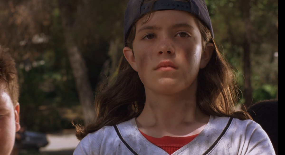 """Becky """"Icebox"""" O'Shea is covered in dirty after trying out for the football team in the movie """"Little Giants"""""""