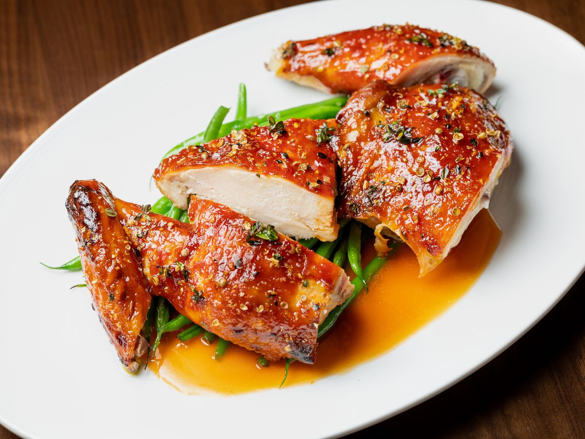 Spicy twice-cooked Sonoma chicken at EP.