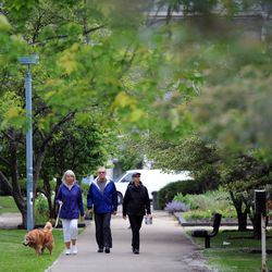 Nichols Park, located in a middle of Hyde Park neighborhood. | Victor Hilitski/For the Sun-Times