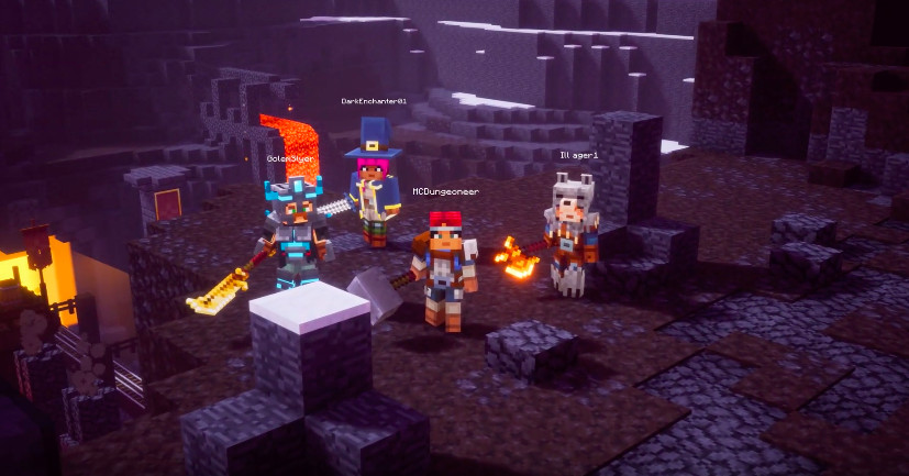 Minecraft Dungeons out in spring 2020