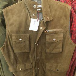 Michael Bastian leather vest, $895