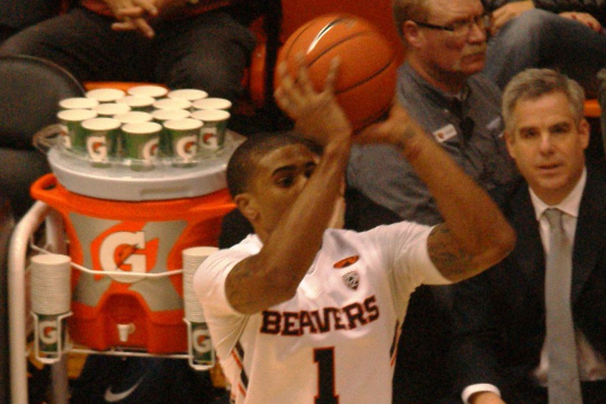 Gary Payton II posted his first Division I double double tonight for Oregon St.