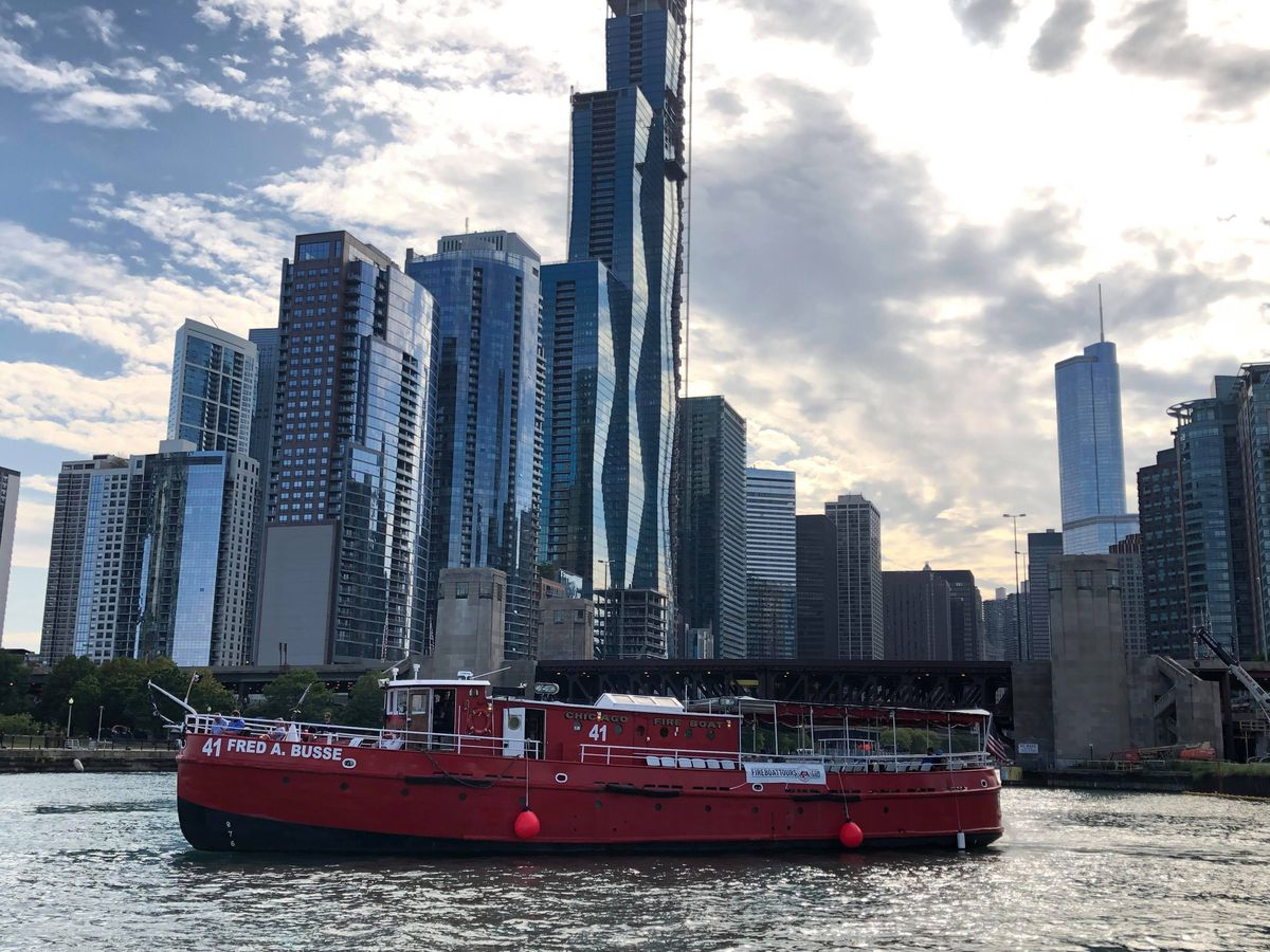 Chicago Fireboat Tours offer great views of Chicago's waterways.