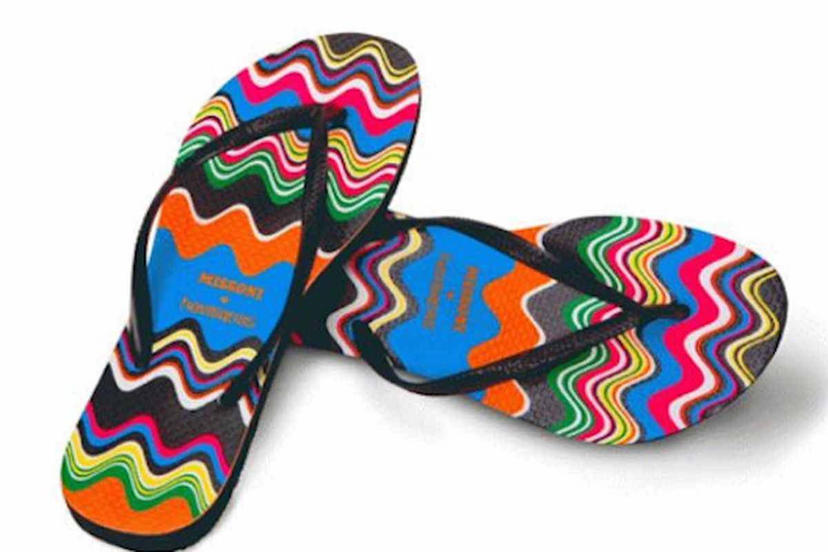 """Missoni for Havaianas (the slim ones!) still in stock at <a href=""""http://www.colette.fr/#/eshop/article/30695046/missoni-x-havaianas-slim/90/%22"""">Colette</a>"""