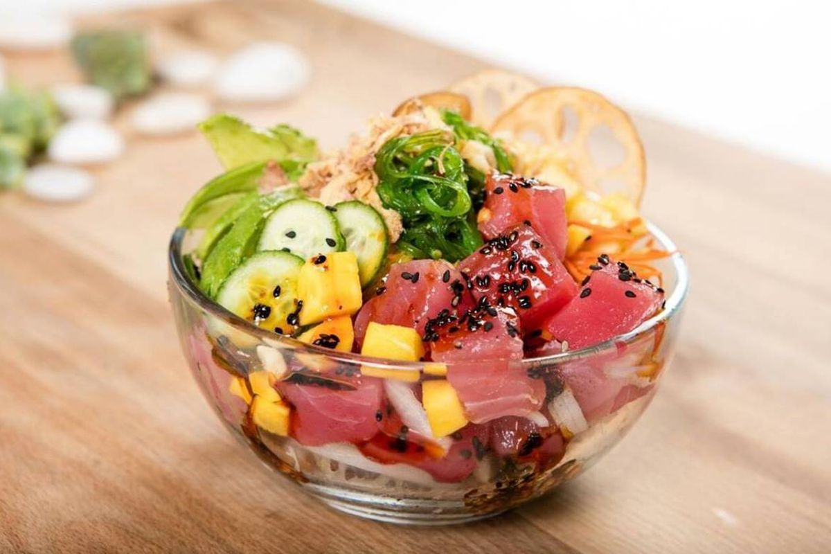 Two locations of big fish little fish poke are swimming for Big fish little fish poke