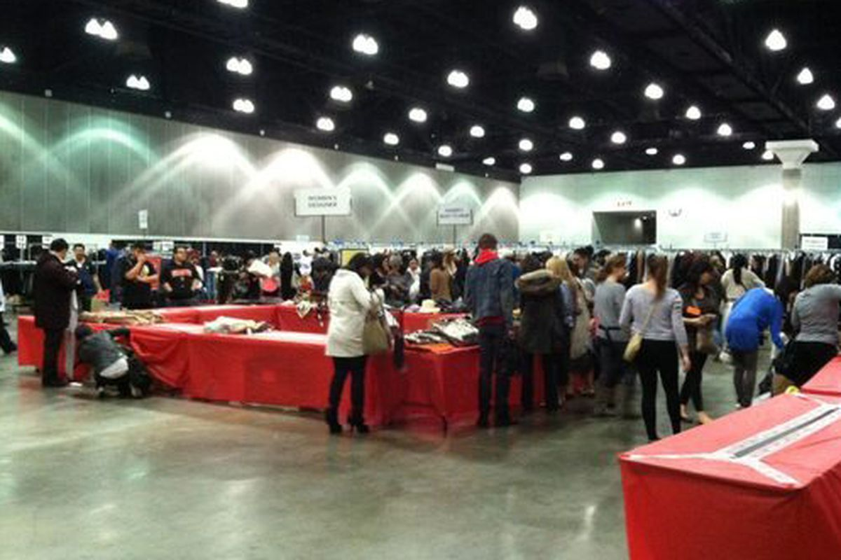 The Barneys Warehouse Sale, 10 minutes after it opened to the public.