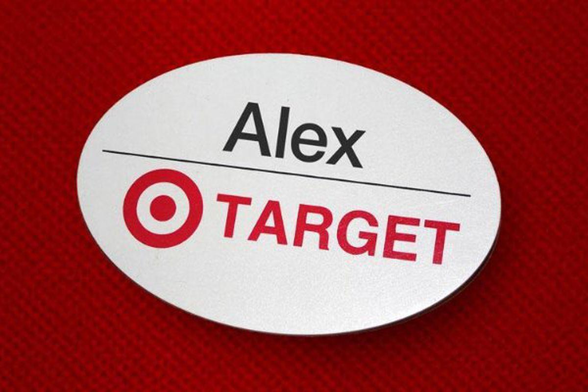 A target employee name badge