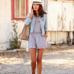 """Annabelle of <a href=""""http://vivaluxury.blogspot.com """"target=""""_blank"""">Viva Luxury</a> is wearing a <a href=""""https://www.nordstromrack.com/shop/product/802435/juicy-couture-geo-del-mar-romper?color=ANG+GEO+DEL+MAR#results""""target=""""_blank"""">Juicy Couture</a>"""