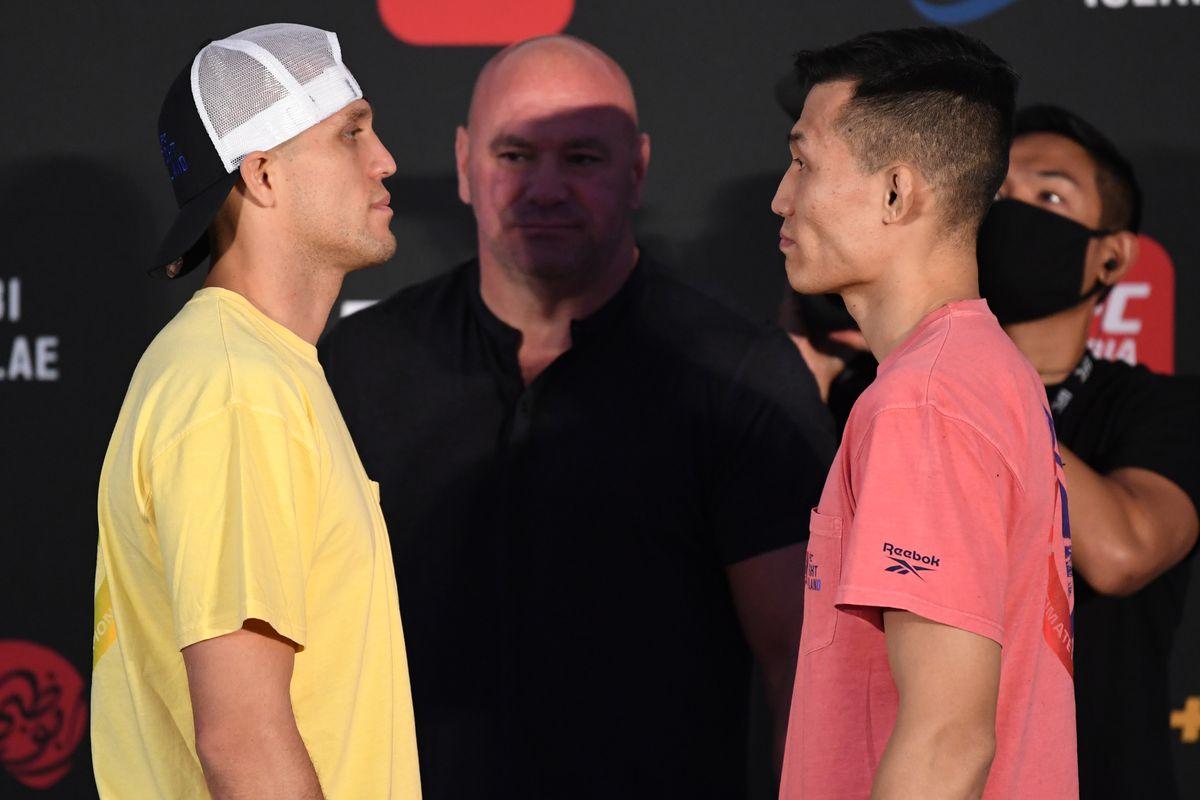 UFC Fight Night Ortega v The Korean Zombie: Weigh-Ins