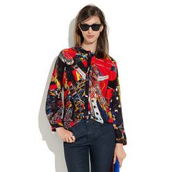 united bamboo™ for madewell silk blouse, $125.00