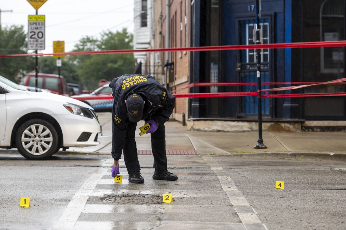 One person was shot and killed, and two others were wounded July 10, 2021, in the 1800 block of South Paulina Street.
