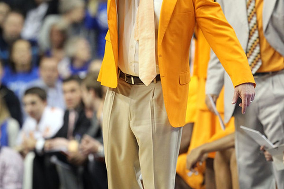 It would be a drastic wardrobe change if Bruce Pearl is forced to don the drab blue and silver for the Legends as opposed to the bright yellow of the Volunteers.