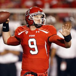 Utah Utes quarterback Jon Hays throws against BYU. Hays has been thrust into the starting role each of the last two seasons.