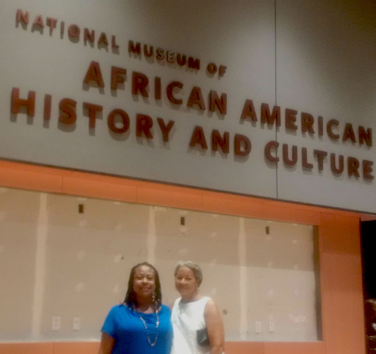 Sun-Times reporter Maudlyne Ihejirika and friend Shawn Goldstein were among a group of visitors who got a look at the yet-to-be opened National Museum of African American History and Culture last month.