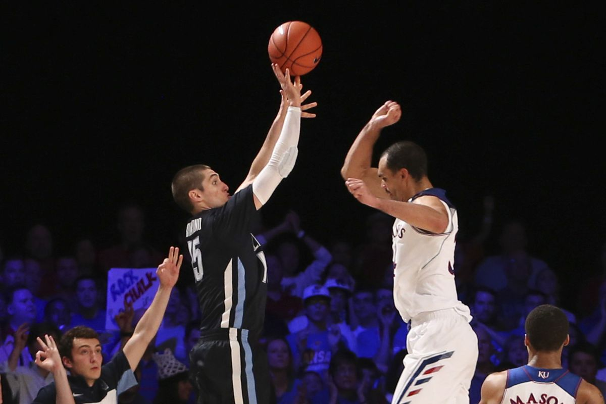 Villanova made the Big Five this week, so yeah: using the picture of Ryan Arcidiacono letting fly on the shot that beat Kansas.