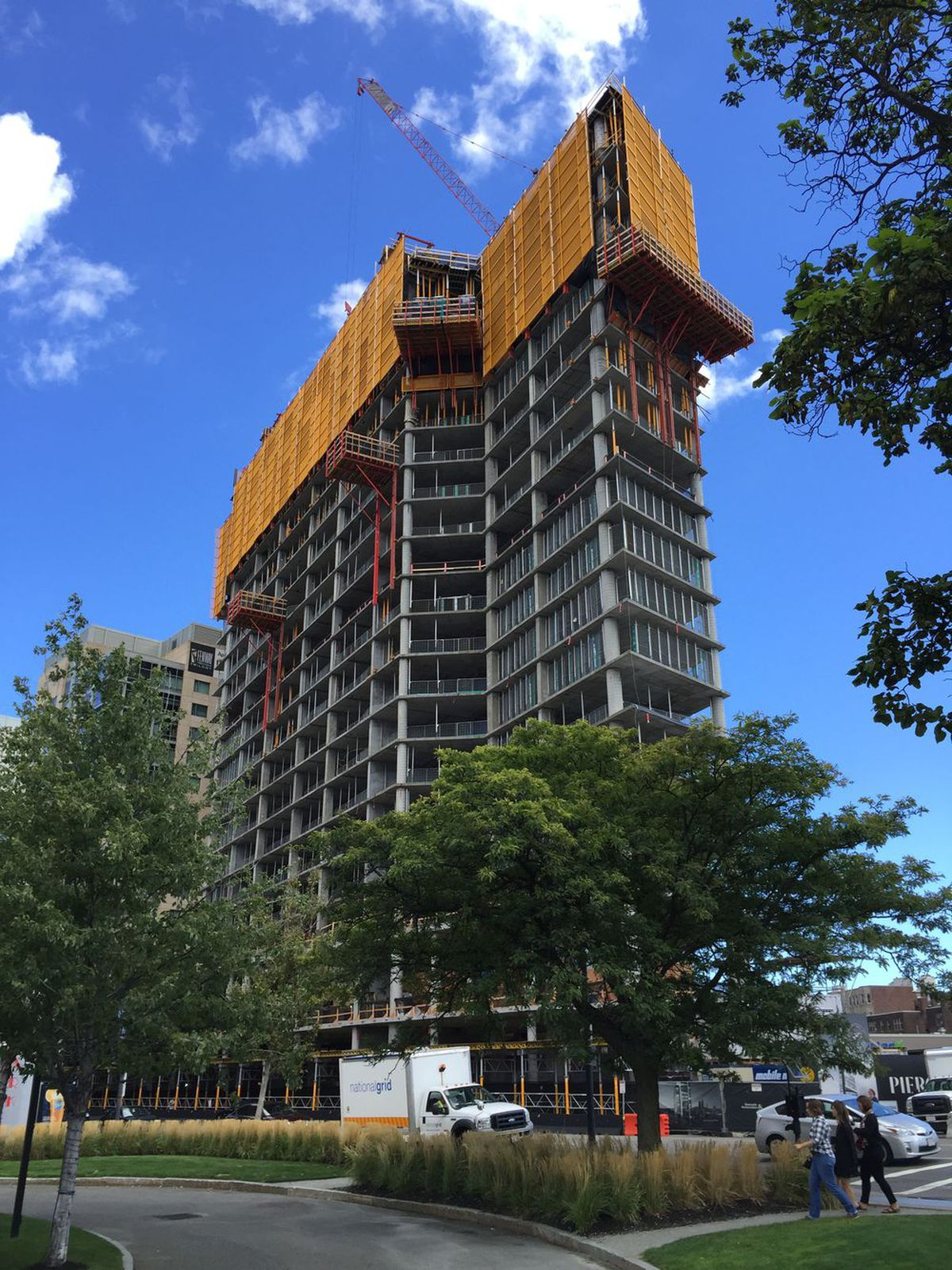 Pierce Boston under construction in fall 2016 Photo courtesy of  Arquitectonica