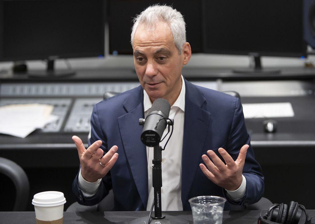Former mayor Rahm Emanuel is interviewed by Fran Spielman February 28, 2020.