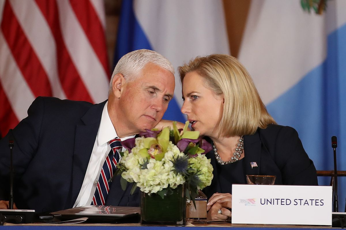 Pompeo, Pence And Nielsen Hold Security Conference With Central American Leaders