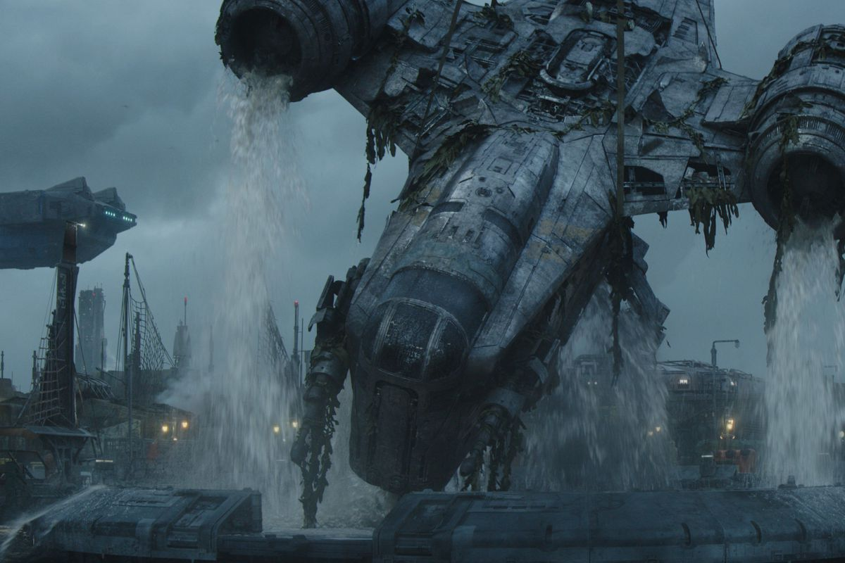 A scene from 'The Mandalorian' season two. The Razor Crest ship from 'Mandalorian'recently arrived in Siberia