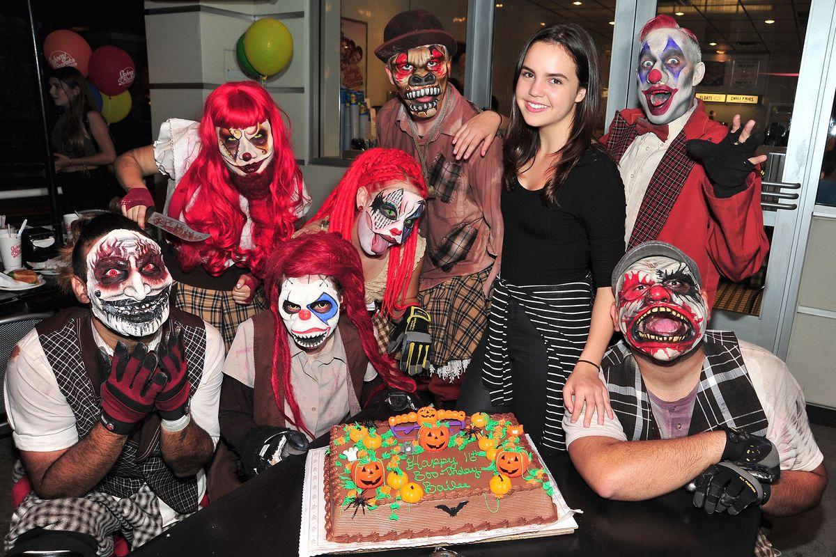 Bailee Madison Celebrates Her Sweet 16 Birthday At Knott's Scary Farm