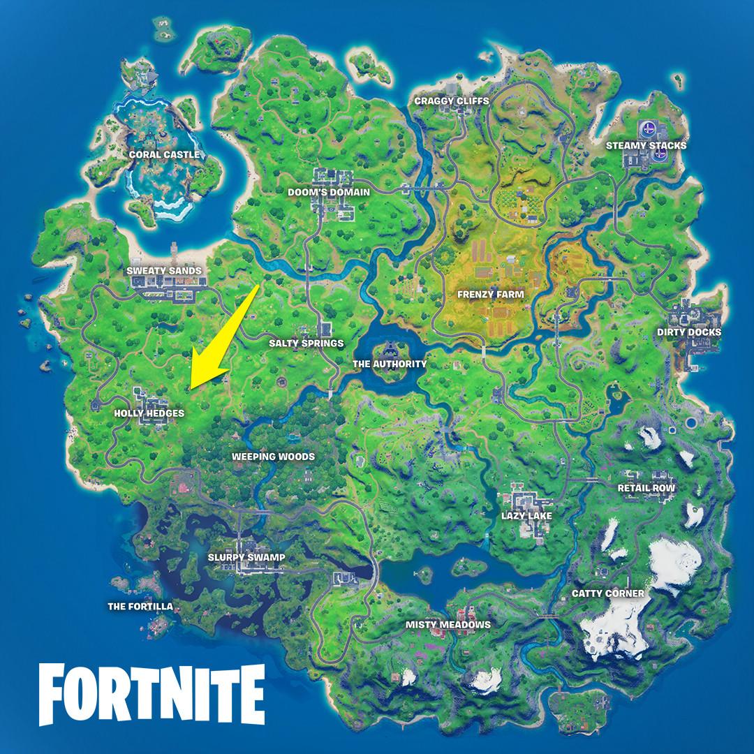 Ant Manor's location in Fortnite
