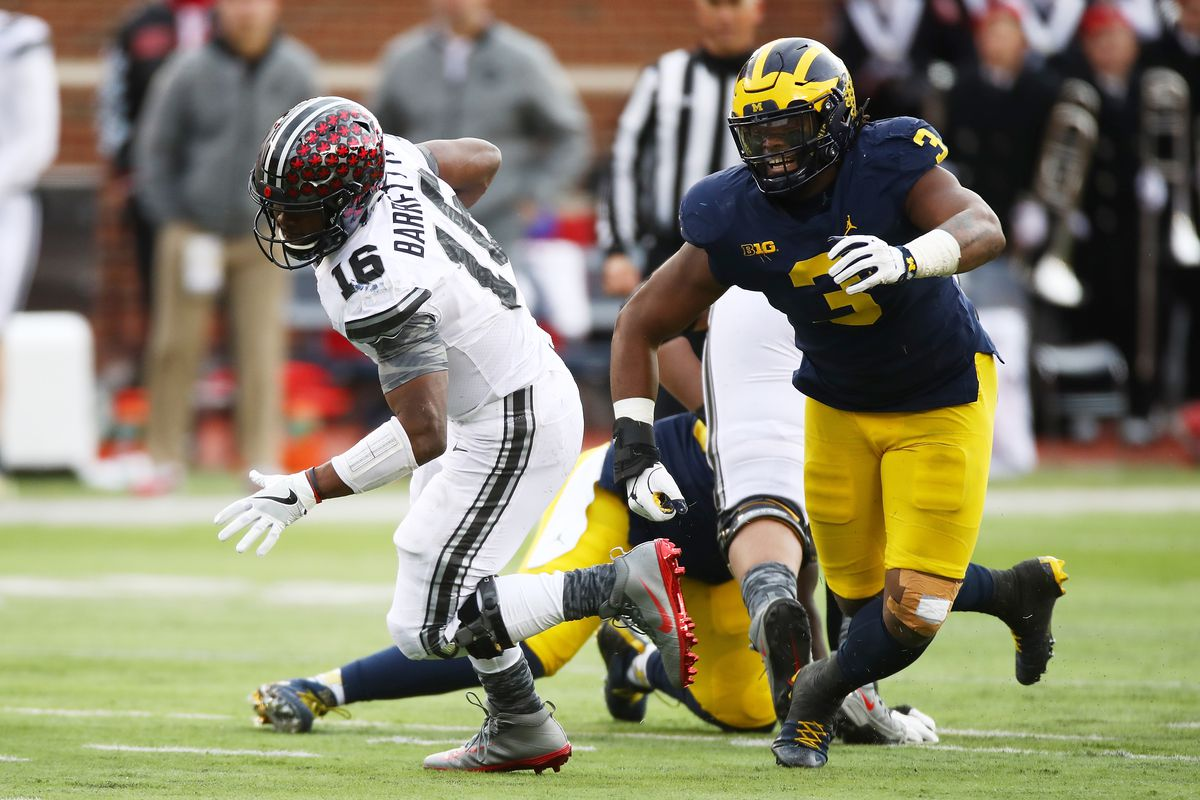 Two Wolverines going in first round of a way-too-early 2019 mock NFL Draft c291e91fd