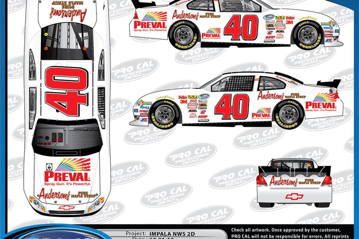 Scott Wimmer's No. 40 Key Motorsports NASCAR Nationwide Series Chevrolet