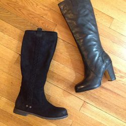 Tall black boots by OTBT and Bronx, regularly $185 and $199, reduced to $100 for sale