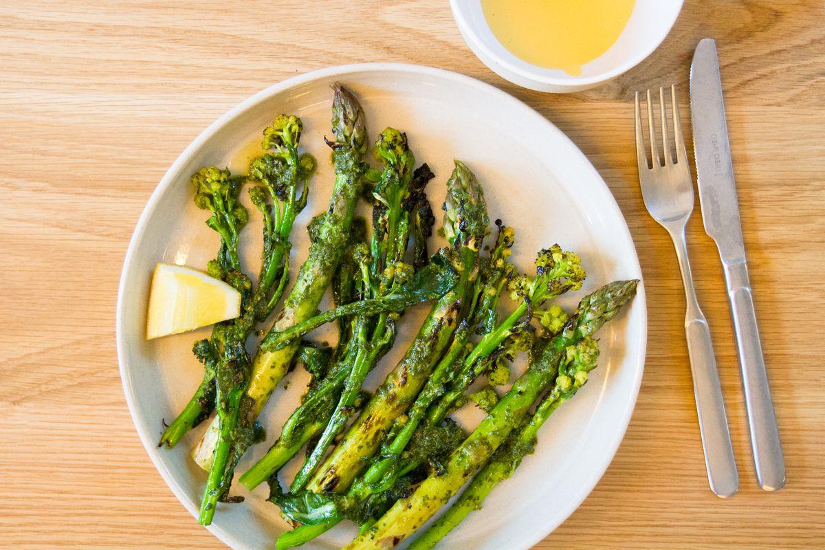 Asparagus at Bright restaurant in London Fields