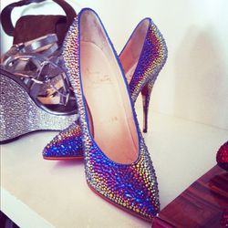 We died for these iridescent crystallized Loubs.