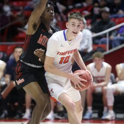 Timpview plays Murray in the 5A boys basketball state quarterfinals at the Huntsman Center in Salt Lake City on Tuesday, Feb. 25, 2020. Timpview won 53-32.