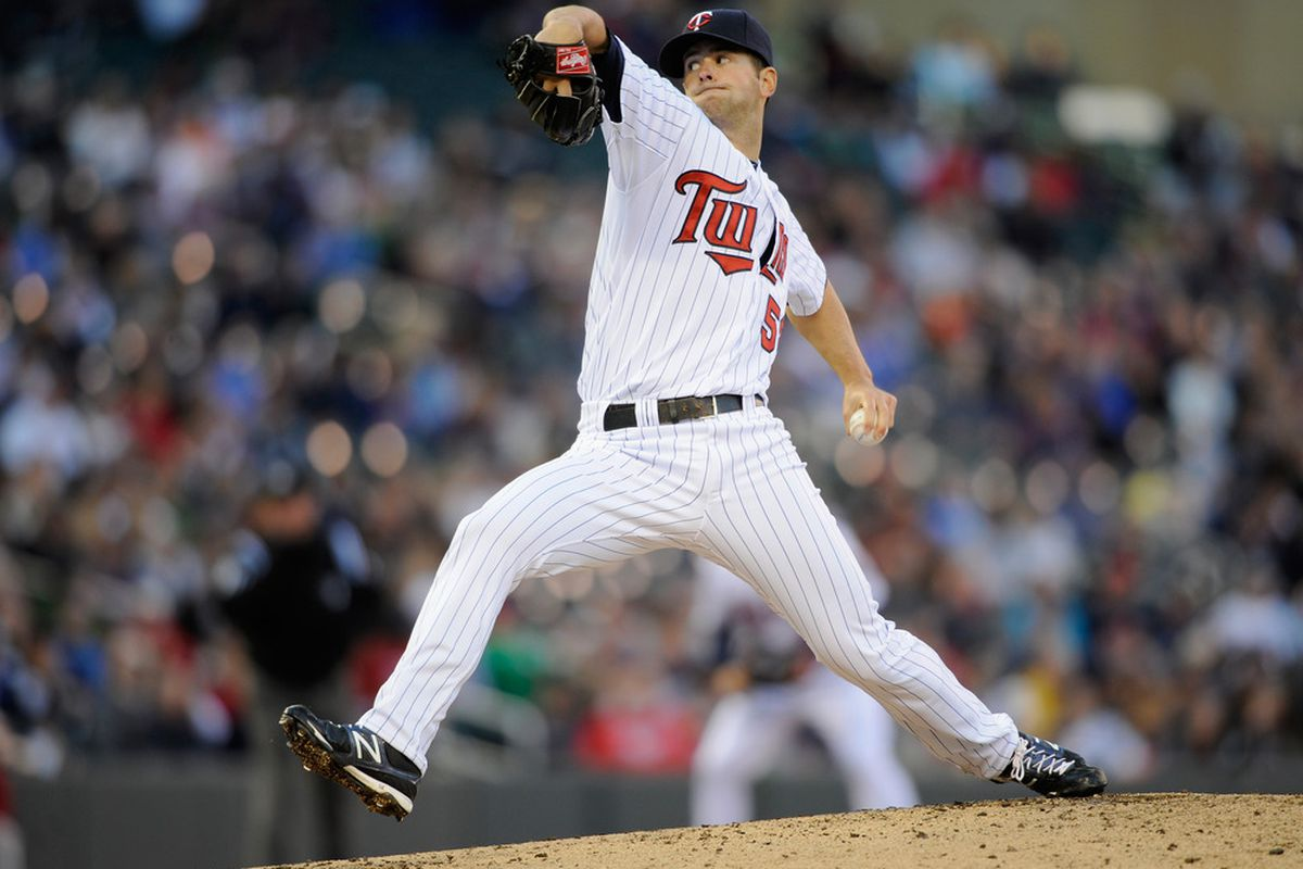 MINNEAPOLIS, MN - MAY 8: Scott Diamond #58 of the Minnesota Twins delivers a pitch against the Los Angeles Angels of Anaheim during the second inning on May 8, 2012 at Target Field in Minneapolis, Minnesota. (Photo by Hannah Foslien/Getty Images)