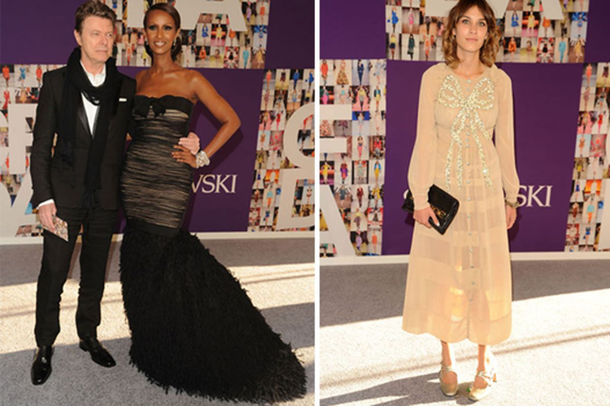 Winner Iman looking appropriately iconic; Alexa Chung in the night's most controversial outfit