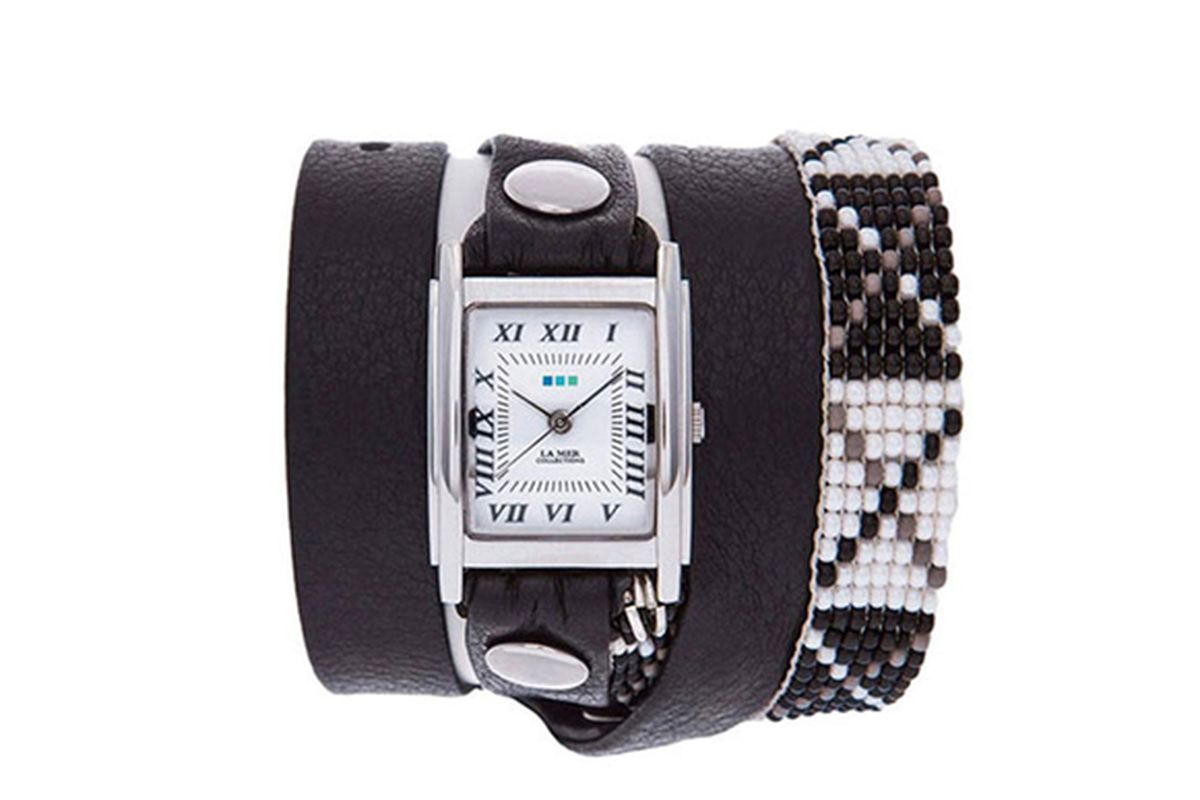 """La Mer Collections Guatemalan Wrap Watch in Black, <a href=""""http://www.toms.com/marketplace/black-guatemalan-wrap-watch"""">$98</a> at Toms.com"""