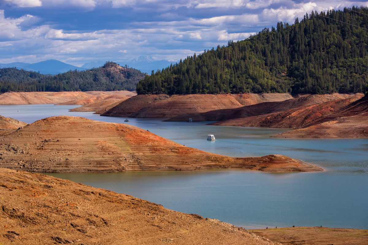 Lake Shasta, California's largest water reservoir, was still at just 42 percent capacity by the end of December.