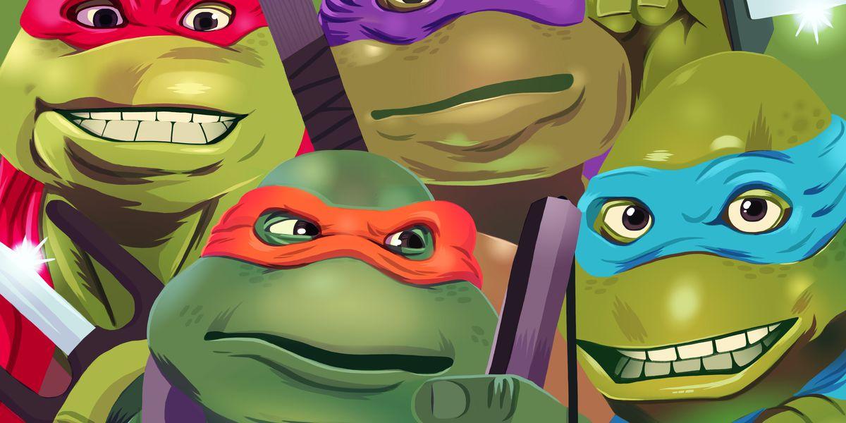 "-7"" Scale-Action Figure Teenage Mutant Ninja Turtles Deluxe Super 1990 Movie"