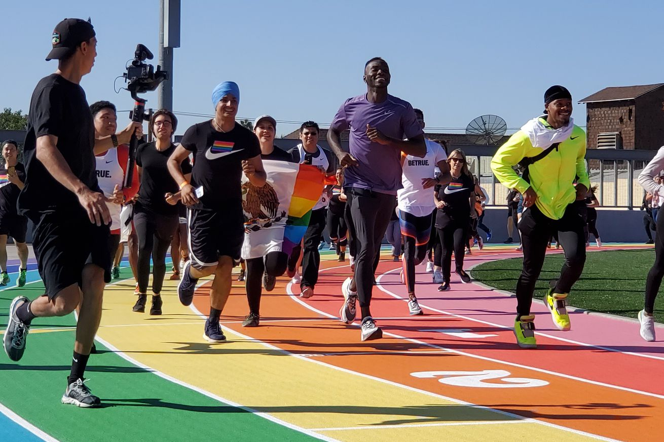 Rainbow pride-inspired track unveiled at Los Angeles City College