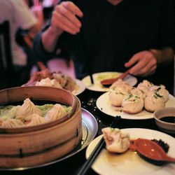 """Xian Long Bao at Shanghai Cafe Deluxe by <a href=""""http://www.flickr.com/photos/naftels/5921376147/in/photostream/"""">Naftels</a>."""