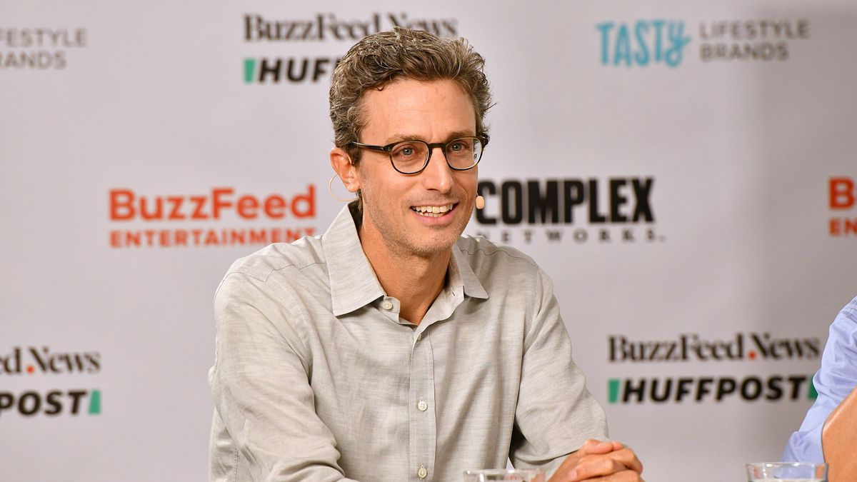 BuzzFeed Hosts Press Conference To Announce Plans To Become Public Company By Merging With 890 5th Avenue Partners In New York On Thursday, June 24