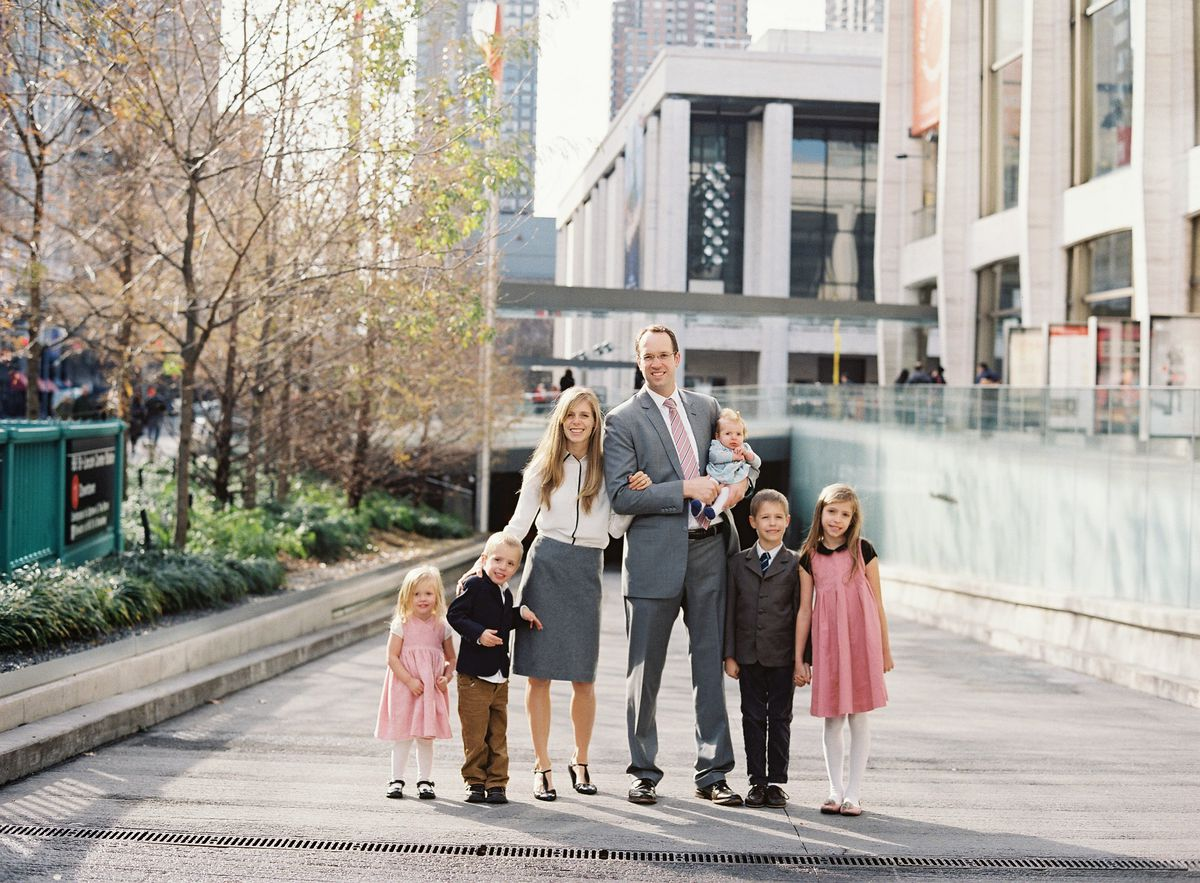 The Matthew and Shelley McConkie family in New York City.