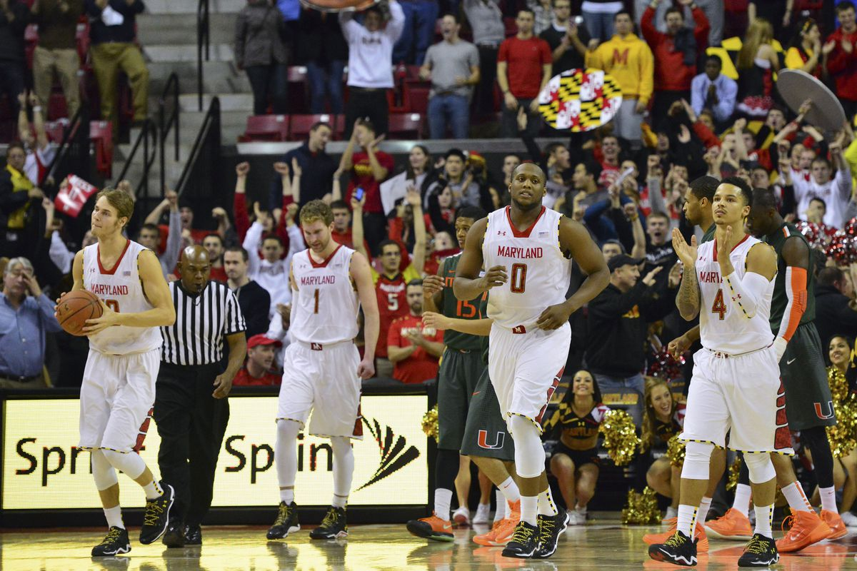 Jake Layman, Evan Smotrycz, Charles Mitchell, and Seth Allen during their 3-point win at home versus Miami.