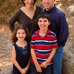 Lisa Goldman, who is in treatment for lung cancer, with her family.