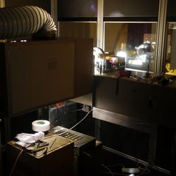 Sideways projector