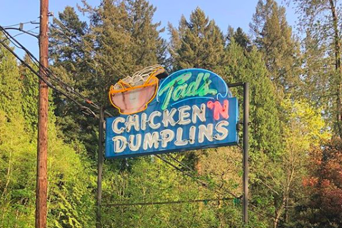 Tad's Chicken n Dumplins has been a stalwart on old Highway 30 for years