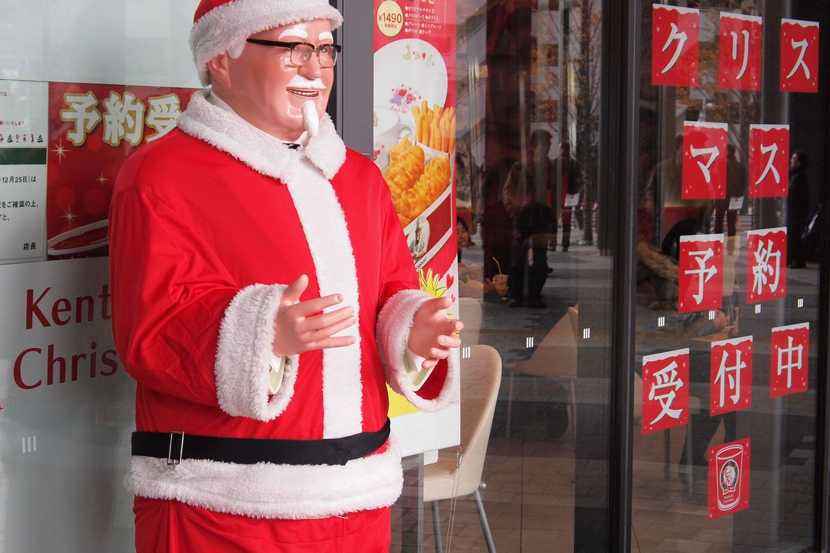 Kfc Japan Christmas.How Kentucky Fried Chicken Became Japan S Favorite Christmas